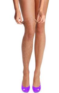 женские ноги, волосы