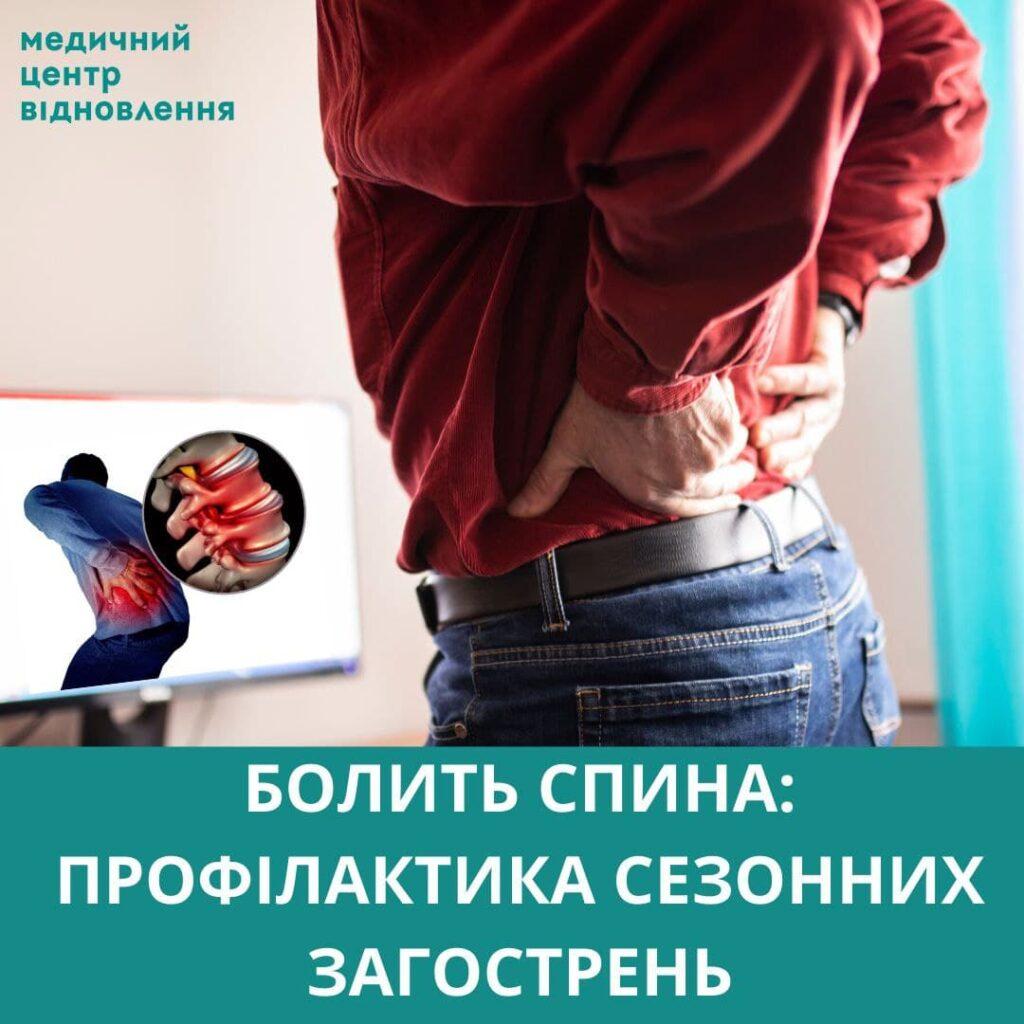 болить спина лікування